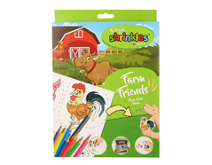 S1060-18 Kit plastico magico Farm Friends con 6 disenos y accesorios Shrinkles