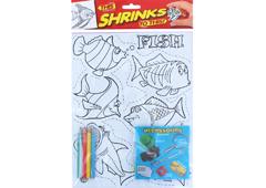 S1060-20 Kit plastico magico Fish con 6 disenos y accesorios Shrinkles
