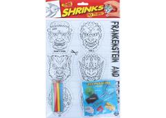 S1060-21 Kit plastico magico Frankenstein con 6 disenos y accesorios Shrinkles