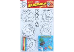 S1060-30 Kit plastico magico Pets con 6 disenos y accesorios Shrinkles