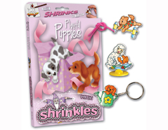S1060-32 Kit plastico magico Playful Puppies con 6 disenos y accesorios Shrinkles