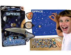 S1060-37 Kit plastico magico Space con 6 disenos y accesorios Shrinkles