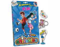 S1060-38 Kit plastico magico Sports con 6 disenos y accesorios Shrinkles