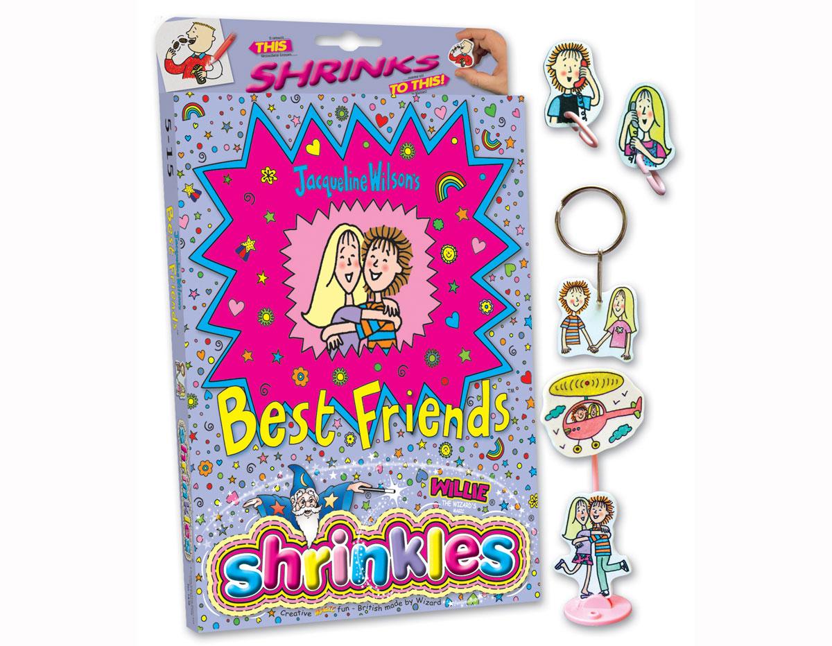 S1060-40 Kit plastico magico Jacqueline Wilson s Best Friends con 6 disenos y accesorios Shrinkles