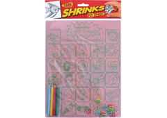 S1062-42 Kit cadenas plastico magico Friendship bracelet con disenos y anillas para encadenar Shrinkles