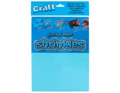 S1306 Hojas lisas plastico magico pastel blue Shrinkles