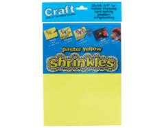 S1307 Hojas lisas plastico magico pastel yellow Shrinkles
