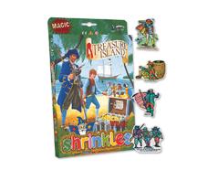 S1419 Kit plastico magico Treasure Island con multiples disenos y accesorios Shrinkles