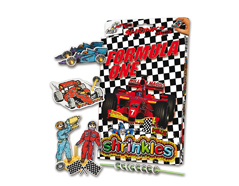 S1425 Kit plastico magico Formula One con multiples disenos y accesorios Shrinkles