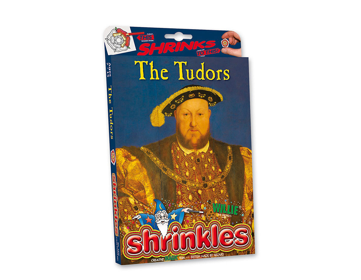 S1432 Kit plastico magico The Tudors con multiples disenos y accesorios Shrinkles