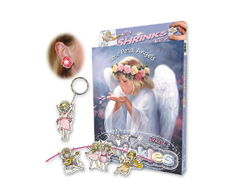 S1435 Kit plastico magico Rose Petal Angels con multiples disenos y accesorios Shrinkles