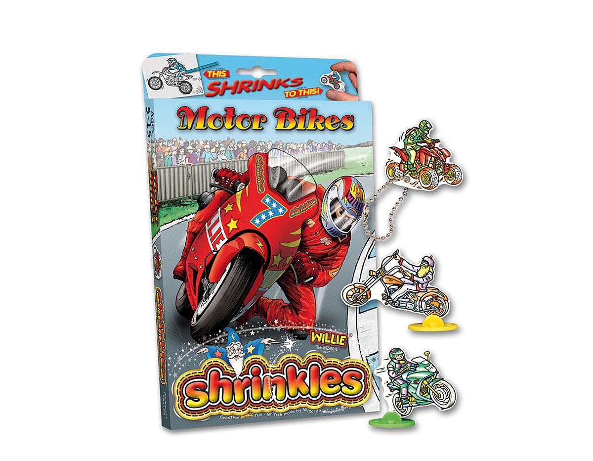 S1459 Kit plastico magico Motor Bikes con multiples disenos y accesorios Shrinkles