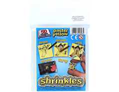 S1607 Hojas lisas plastico magico pastel yellow Shrinkles