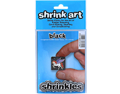 S1704 Hojas lisas plastico magico black Shrinkles