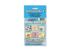 S1705 Hojas estampadas plastico magico frosted Shrinkles