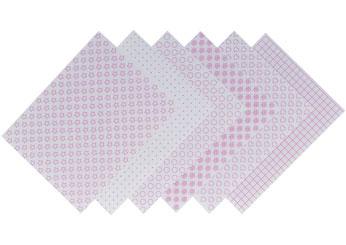 S1705 Hojas estampadas plastico magico frosted Shrinkles - Ítem1