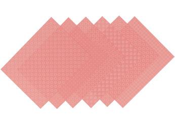 S1716 Hojas estampadas plastico magico pastel pink Shrinkles - Ítem1