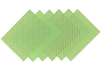 S1719 Hojas estampadas plastico magico pastel green Shrinkles - Ítem1