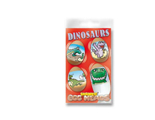 S1802 HOJAS SHRINKIE Egg Heads Dinosaurs 12u Shrinkles