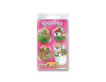 S1804 HOJAS SHRINKIE Egg Heads Ponies 12u Shrinkles