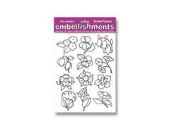 S2019 Hoja pre disenos plastico magico Flowers white Shrinkles