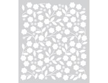 SA040 Plantilla Floral Vines Stencil Hero arts