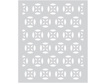 SA058 Plantilla Medallion Patterned Stencil Hero arts