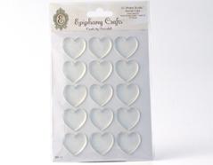 SSA-17 Cabuchones epoxi autoadhesivos corazon transparente Epiphany Crafts