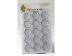 SSA-65 Cabuchones epoxi autoadhesivos hexagono transparente Epiphany Crafts