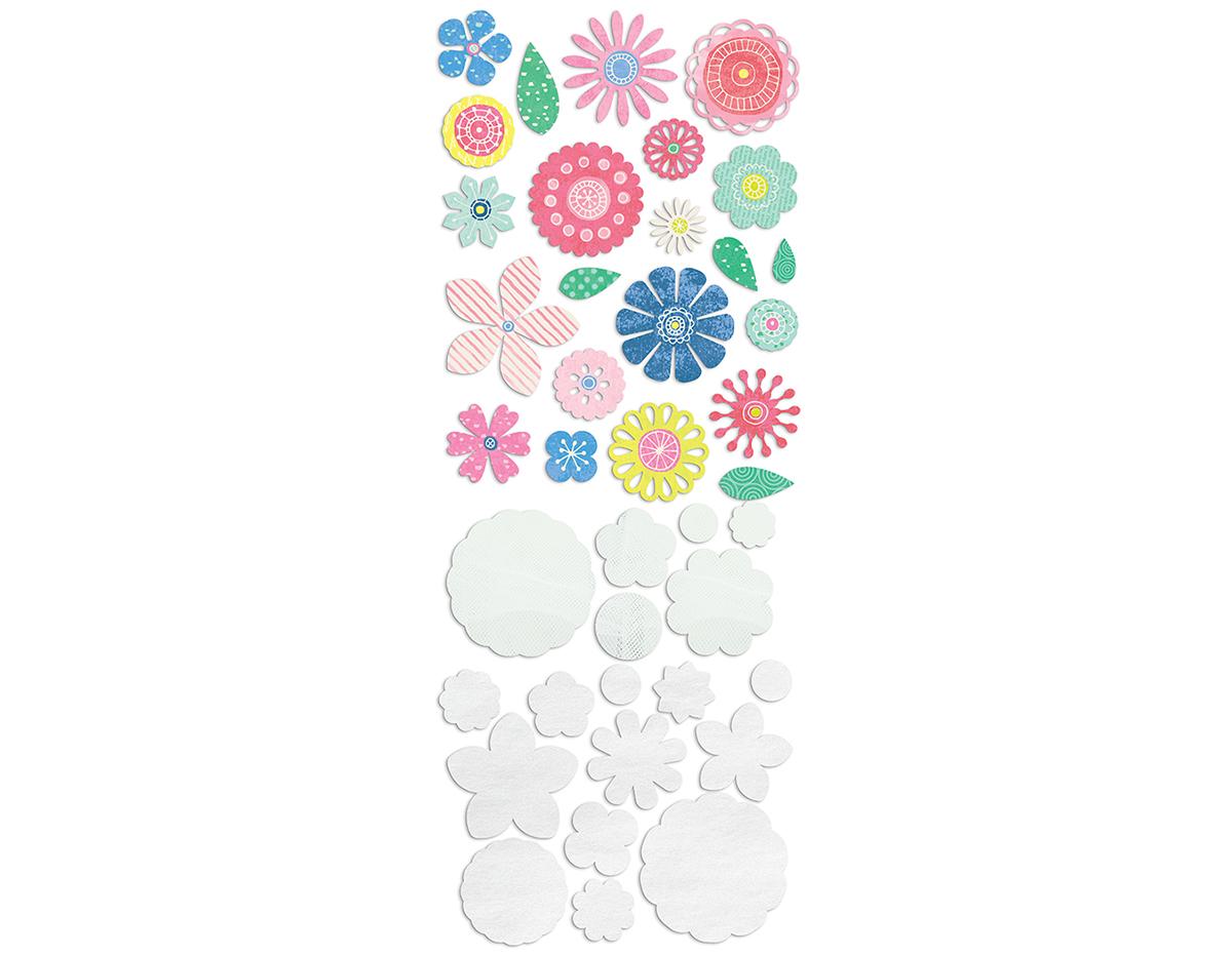 STM-5119 Set flores de carton y botones SATURDAY MORNING Basic Grey