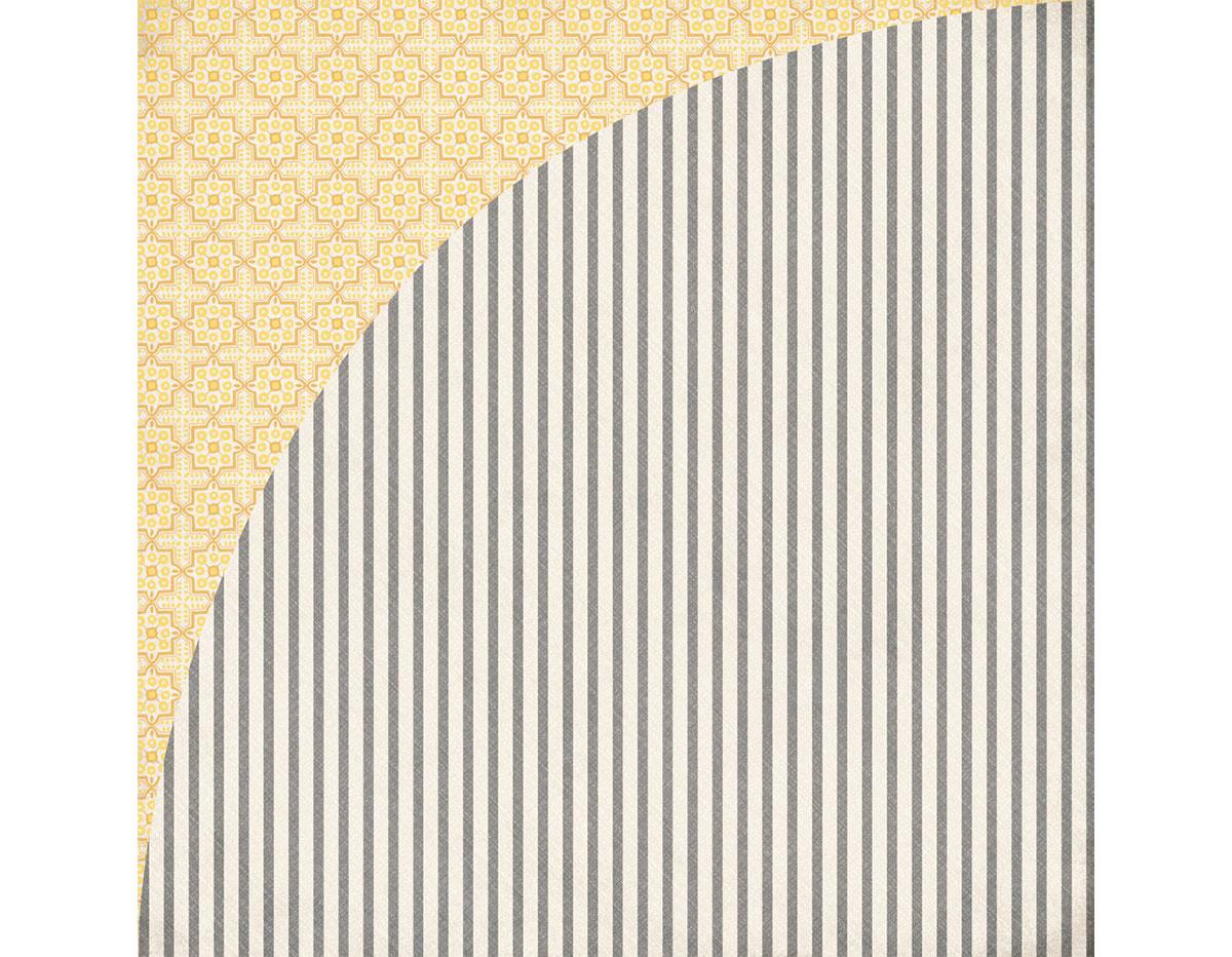 SUN-4959 Papel doble cara SUN KISSED Mosaic Basic Grey