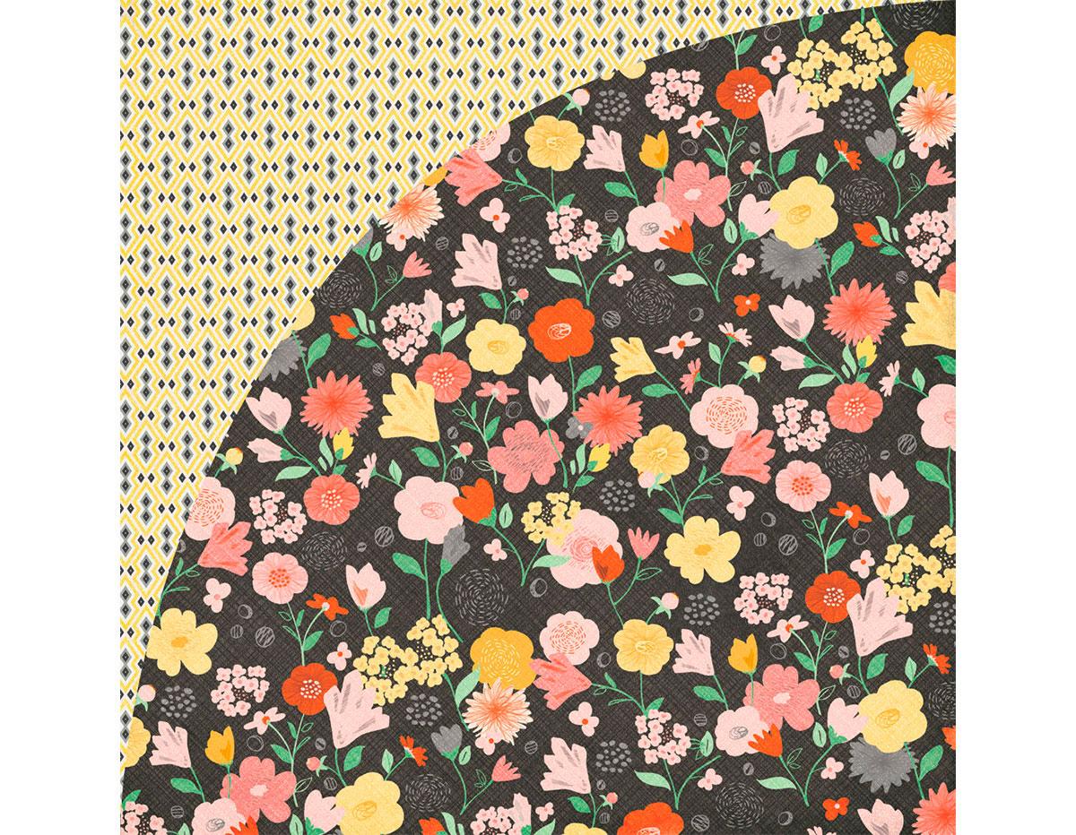 SUN-4961 Papel doble cara SUN KISSED Secret Garden Basic Grey