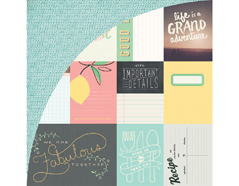 SUN-4974 Tarjetas anotaciones diarias SUN KISSED Basic Grey