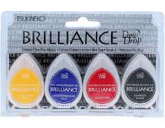 TBD-100-001 Set 4 almohadillas de tinta BRILLANCE opaca bases efecto nacarado Brilliance