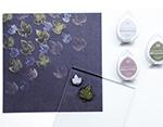 TBD-100-003 Set 4 almohadillas de tinta BRILLANCE opaca tono tierra efecto nacarado Tsukineko - Ítem2