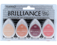TBD-100-004 Set 4 almohadillas de tinta BRILLANCE opaca paleta de pintor efecto nacarado Brilliance