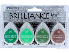 TBD-100-007 Set 4 almohadillas de tinta BRILLANCE opaca casa del arbol efecto nacarado Brilliance