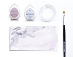 TBD-100-007 Set 4 almohadillas de tinta BRILLANCE opaca casa del arbol efecto nacarado Brilliance - Ítem1