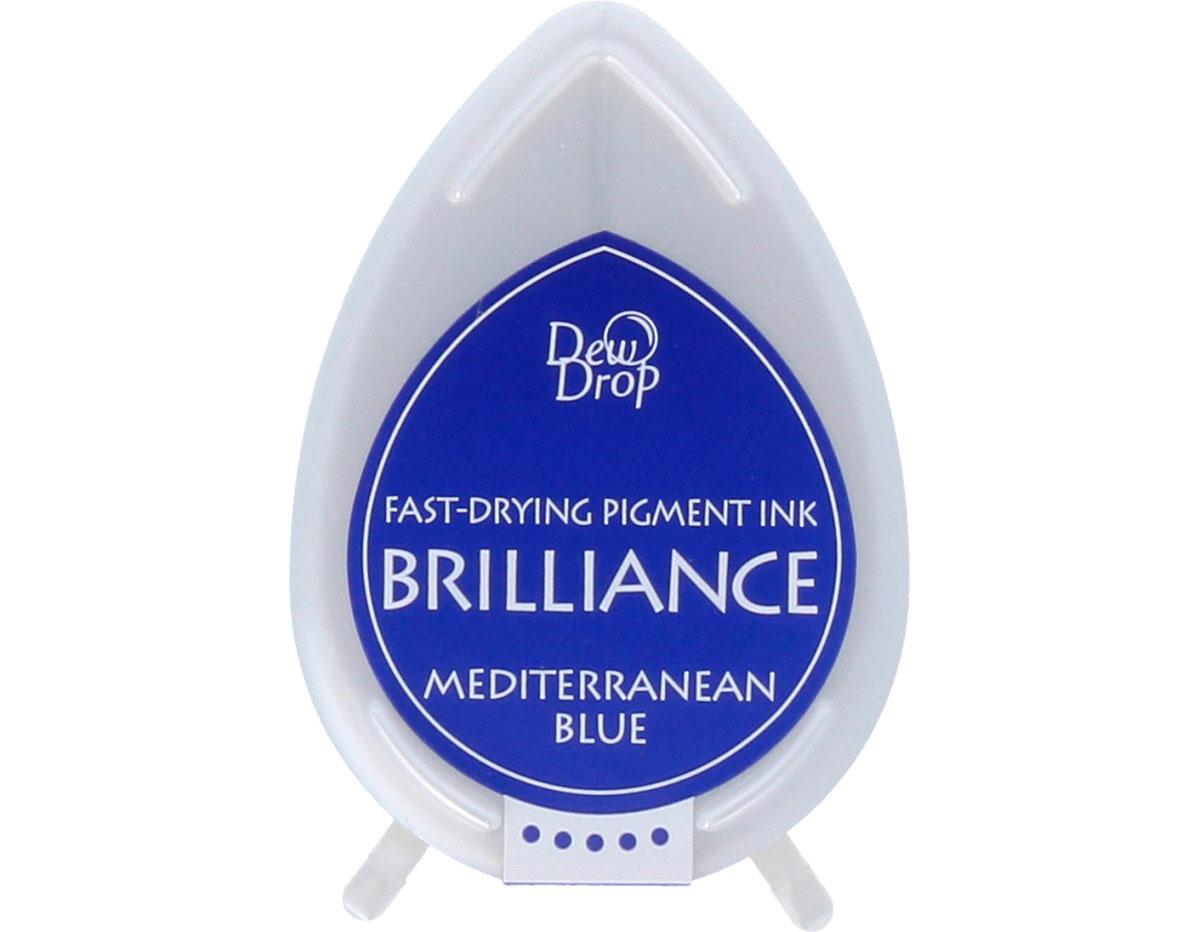 TBD-18 Tinta BRILLIANCE color azul Mediterraneo efecto nacarado Tsukineko