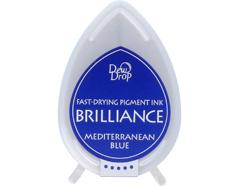 TBD-18 Tinta BRILLIANCE color azul Mediterraneo efecto nacarado Tsukineko - Ítem