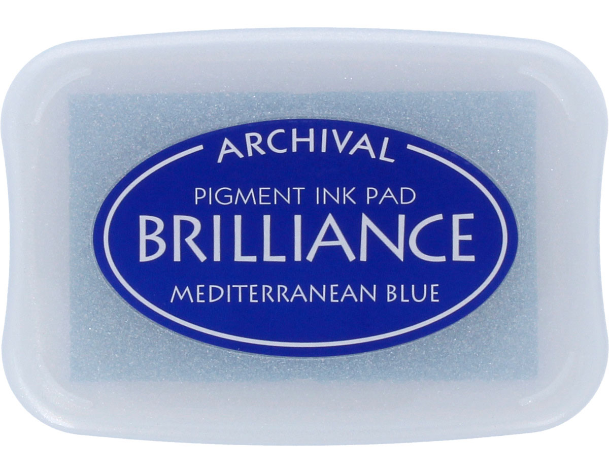 TBR-18 Tinta BRILLIANCE color azul Mediterraneo efecto nacarado Brilliance