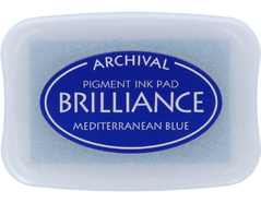 TBR-18 Tinta BRILLIANCE color azul Mediterraneo efecto nacarado Brilliance - Ítem
