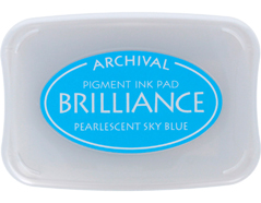 TBR-38 Tinta BRILLIANCE color azul cielo efecto nacarado Brilliance