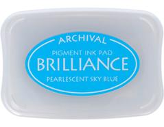 TBR-38 Tinta BRILLIANCE color azul cielo efecto nacarado Tsukineko