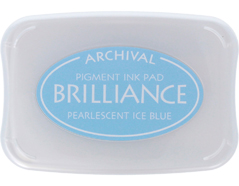 TBR-74 Tinta BRILLIANCE color azul hielo perlado efecto nacarado Brilliance