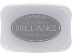 TBR-90 Tinta BRILLIANCE color negro con luz de estrella efecto nacarado Tsukineko