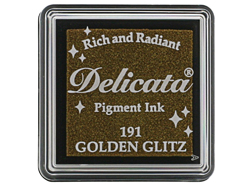 TDE-SML-191 Tinta DELICATA color destello dorado metalica brillante Delicata