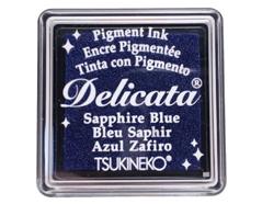 TDE-SML-318 Tinta DELICATA color azul zafiro metalica brillante Delicata