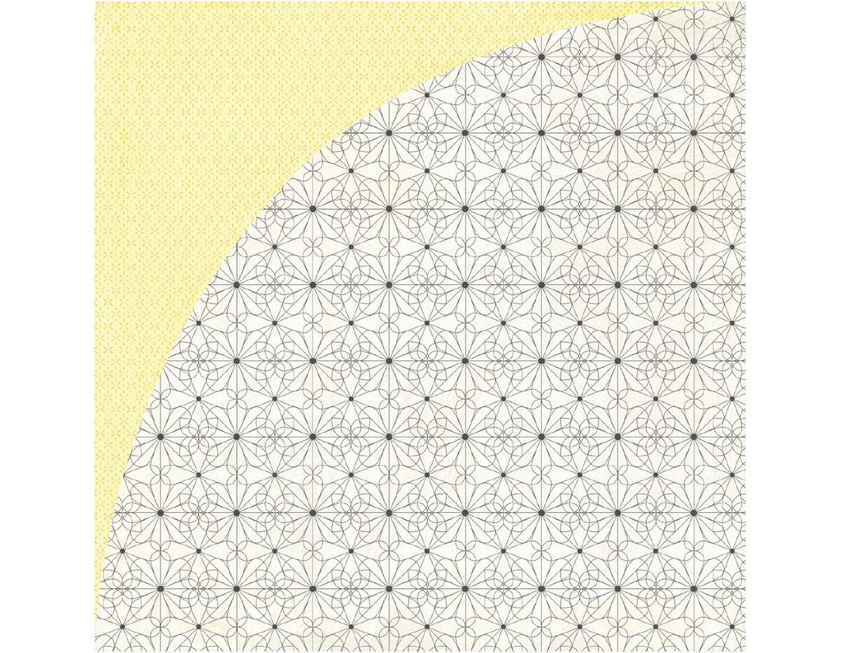 TEA-4863 Papel doble cara TEA GARDEN Chamomile Basic Grey