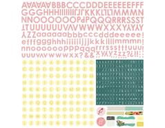 TEA-4868 Pegatinas alfabeto TEA GARDEN Basic Grey